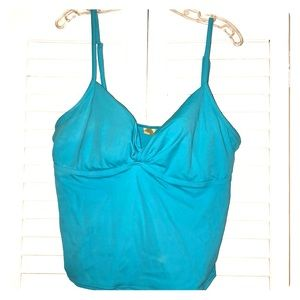 Islander Tankini Swimsuit Top Sz 16 Padded Plus Sz